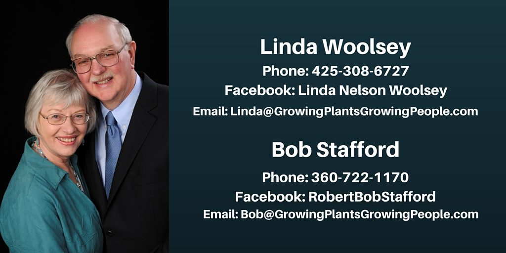 Photo of Bob Stafford and Linda Woolsey owners of Growing Plants Growing People