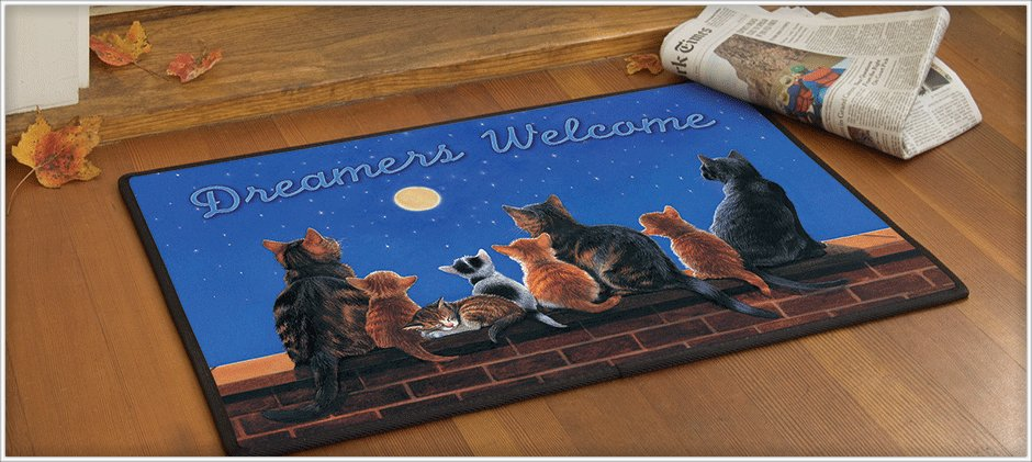 Decorative Doormats make your front door cheerful